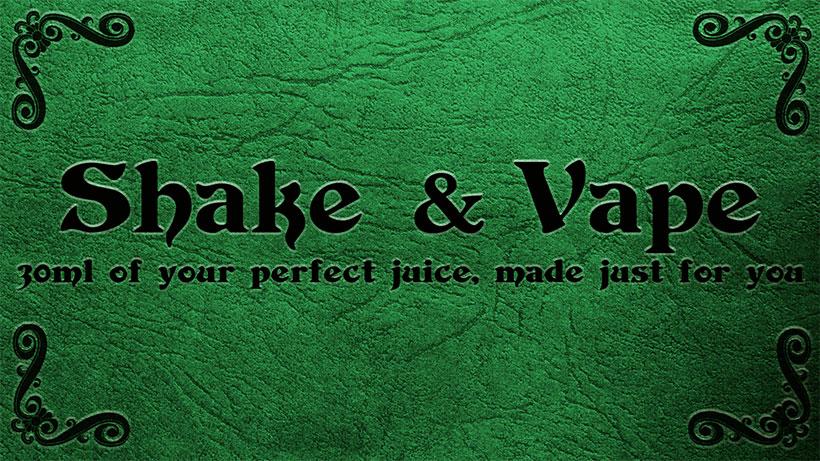 Shake and Vape E-Liquid Kit