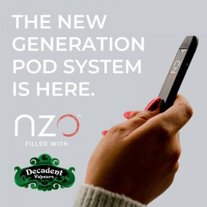 Decadent Vapours and nzo Collaborate on New Generation Pod System