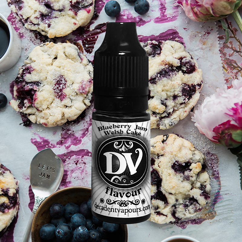 Blueberry-jam-welsh-cake-concentrate-background