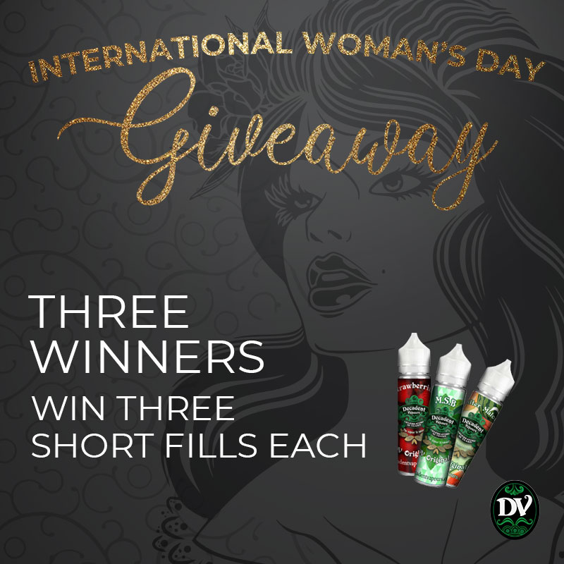 International Woman's Day Giveaway: THREE winners with THREE short fills each