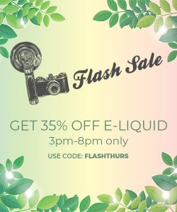 Flash Sale: 35% off e-liquid