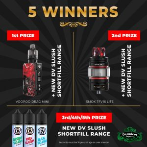 Vaping Giveaway! Win one of 5 prizes [NOW ENDED]